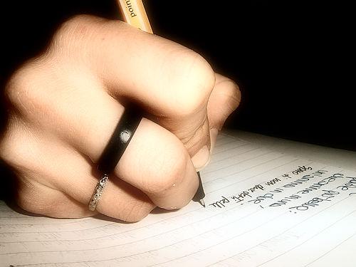 sat writing